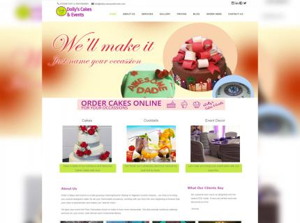 Dolly's Cakes & Events Website design